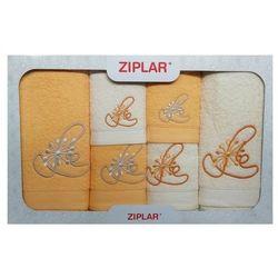Ziplar Komplet ręczników 6 szt. żółty/ekri