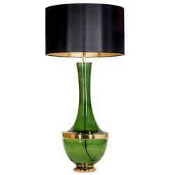 Stojąca LAMPKA nocna TROYA L232272308 4Concepts abażurowa LAMPA vintage czarna zielona