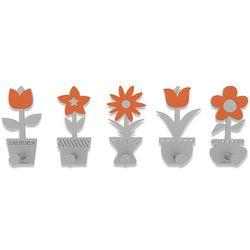 Calleadesign Wieszak ścienny little flowers  pomarańczowy
