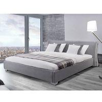 Nowoczesne łóżko tapicerowane ze stelażem 160x200 cm - PARIS szare z kategorii Łóżka