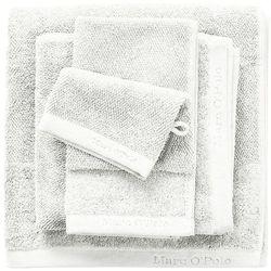 Gruby ręcznik łazienkowy biały, elegancki ręcznik bawełniany, , 30 x 50 cm, 50 x 100 cm marki Marc o'polo