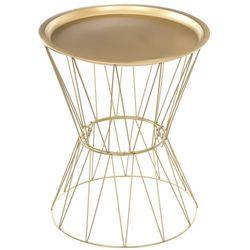 Atmosphera créateur d'intérieur Nowoczesny stolik kawowy, materiał stal + żelazo, kolo złoty, okrągły blat, wymiary 52 x 43.5 cm, marka
