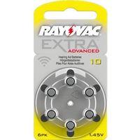6 x baterie do aparatów słuchowych  extra advanced 10 mf wyprodukowany przez Rayovac