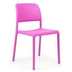 Włoskie krzesło ogrodowe na balkon Nardi Bora Bistrot różowe z kategorii Krzesła ogrodowe