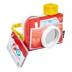 Fisher price - miękki aparacik z lusterkiem wyprodukowany przez Mattel