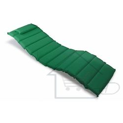 1 Poduszka na leżak ogrodowy w kolorze ciemnozielonym
