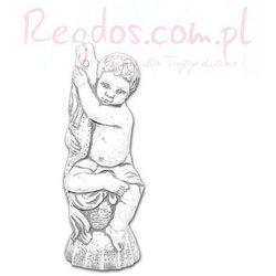 Figura ogrodowa betonowa Dziecko z rybą 66cm
