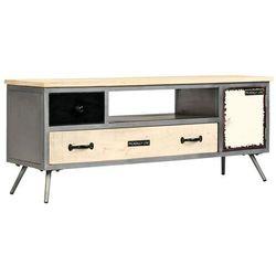 szafka pod telewizor, lite drewno mango i stal, 120x30x45 cm marki Vidaxl