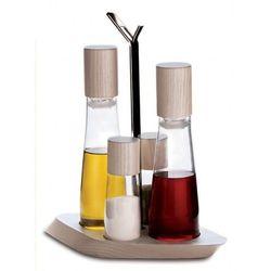 - trattoria zestaw 4 częściowy olej/ocet + sól i pieprz marki Casa bugatti