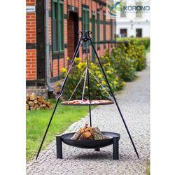 Grill na trójnogu z rusztem ze stali czarnej + palenisko ogrodowe 60 cm / 70 cm marki Korono