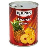 Ananas plastry 580 ml Rolnik