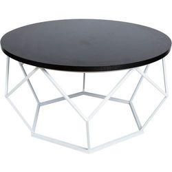 Stolik kawowy Diament - biało czarny