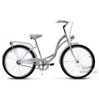 Rower miejski 26 Vanessa biała (stożki) - Biały