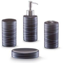 Zeller Ceramiczny zestaw akcesoriów łazienkowych black - 4 sztuki w komplecie (4003368182520)