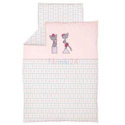 Ceba baby Ceba pościel bawełniana c-2 haft kotki różowe
