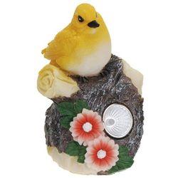 Progarden Lampa solarna 11 cm ptaszek żółty - zółty
