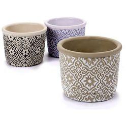 Arte regal Doniczka ceramiczna malaga w kolorze lawendowym (8430852485496)
