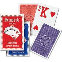 Karty do gry Piatnik 1 talia, Ogromne indeksy dla słabo widzących (9001890149511)