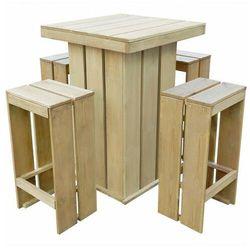 Elior Zestaw drewnianych mebli ogrodowych - elaine