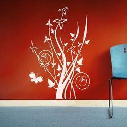 Wally - piękno dekoracji Szablon malarski floral motyl 1290