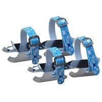 Axer sport Regulowane łyżwy dwupłozowe saneczki axer - niebieskie - niebieski