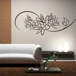 Wally - piękno dekoracji Szablon malarski kwiaty 0994