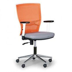 Krzesło biurowe HAAG, pomarańczowe/szare