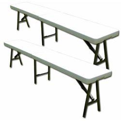Komplet 2 x Rozkładana ławka ogrodowa 183 cm