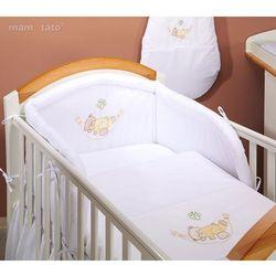 MAMO-TATO pościel 2-el Miś w hamaku w bieli do łóżeczka 60x120cm