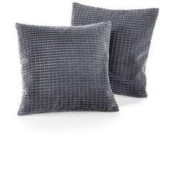 Bonprix Narzuta na sofę w wypukły wzór szary