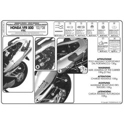 KZ166 Stelaż Kufra Centralnego Honda Vfr 800 Vtec (02 > 09), Kappa