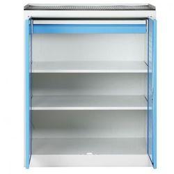 Szafa warsztatowa niska z perforowaną ścianką tylną, 2 półki, 1 szuflada marki B2b partner