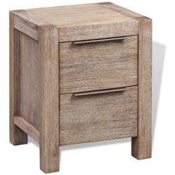 vidaXL Szafka nocna, lakierowane drewno akacjowe, 42x45x58 cm (8718475966463)