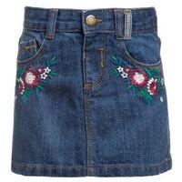 Outfit Kids FLORAL SKIRT Spódnica jeansowa blue, kolor niebieski