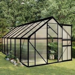 Vidaxl szklarnia, antracytowa, aluminium, 7,03 m² (8719883813974)