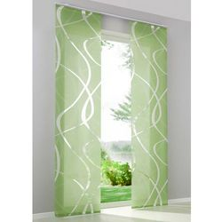 Zasłona panelowa we wzór z przycinanymi brzegami (1 szt.) bonprix zielony
