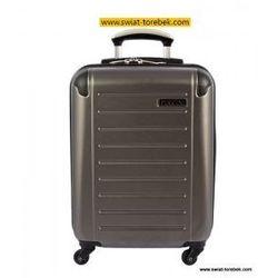 PUCCINI walizka mała/ kabinowa z kolekcji PC016 twarda 4 koła materiał Policarbonite zamek szyfrowy z syste