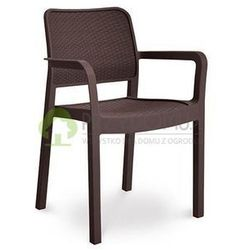 Krzesło ogrodowe SAMANNA brązowe FOCUS, towar z kategorii: Krzesła ogrodowe