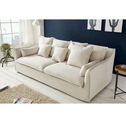Sofa SVAMP trzyosobowa biała - tkanina, kolor biały