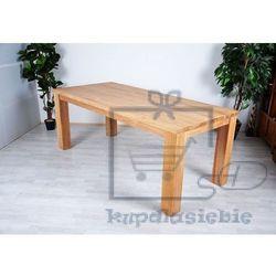 Stół z drewna tekowego - 180 x 90 x 77 cm marki Divero