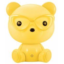 Lampka nocna dziecięca zwierzak polux miś okularnik 1x2,5w led żółta, 3 poziomy świecenia 308269 marki Sanico