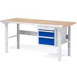 Stół roboczy solid, z 3 szufladami, 500 kg, 1500x800 mm, dąb marki Aj produkty