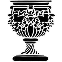 Szablon do malowania, wielorazowy, wzór przedmioty 3 - donica 1 marki Szabloneria