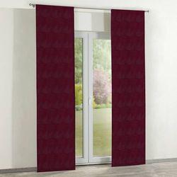 zasłony panelowe 2 szt., bordowy szenil, 60 × 260 cm, chenille marki Dekoria