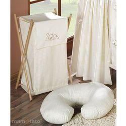 MAMO-TATO Kosz na bieliznę Śpiący miś w kremie z kategorii kosze na pranie