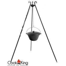 Kociołek węgierski żeliwny emaliowany z pokrywą na trójnogu 16l, CookKing