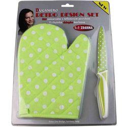 Nóż z powłoką teflonową, rękawica gratis