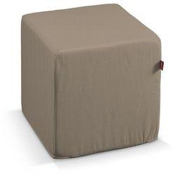 Dekoria Pufa kostka twarda, Grey Brown (szary brąz), 40x40x40 cm, Cotton Panama, kolor brązowy