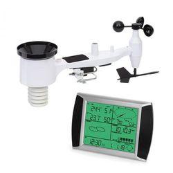 Waldbeck kopernikus, radiowa stacja pogodowa, wyświetlacz dotykowy lcd, moduł wewnętrzny i zewnętrzny, biały