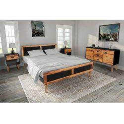 vidaXL Zestaw mebli do sypialni z drewna akacjowego, 140x200 cm (8718475554301)